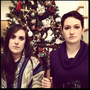 Why so serious? My cousin and I playing serious at Christmas.